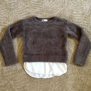 H&M Berber Sweater with Shirt Tail Bottom